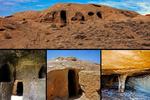 دستکند اشتهارد تافتهای جدا بافته از معماری صخرهای ایران/تپههای رنگینکمانی در کویر