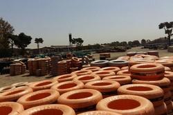 کشف ۸۱۸ حلقه لاستیک احتکار شده در زنجان