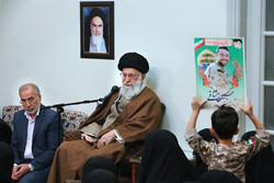 Families of martyred defenders of holy shrines meet with Leader
