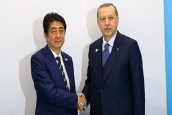 اردوغان با نخستوزیر ژاپن دیدار کرد