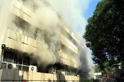 حریق در ساختمان وزارت اطلاع رسانی پاکستان