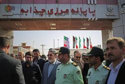 وزير الداخلية ورئيس جمعية الهلال الأحمر في جولة على معابر خوزستان الحدودية /صور