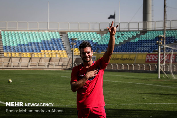تمرین تیم فوتبال پرسپولیس تهران