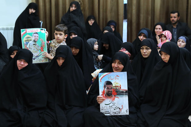 Families of martyred defenders of the Holy Shrine met with Leader
