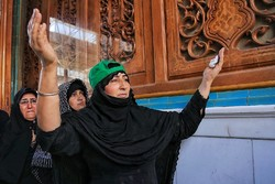 زائران اربعین حسینی در حرم امیرالمومنین(ع)
