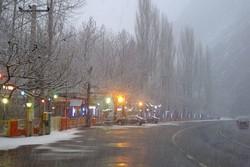 مه گرفتگی و کاهش دید در محور چالوس محدوده کندوان