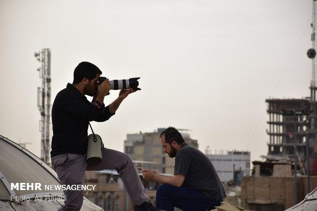 عکاسی از پشت بام حرم حضرت عباس (ع)