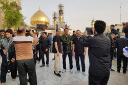 چہلم کے موقع پر سامراء میں زائرین کا حضور