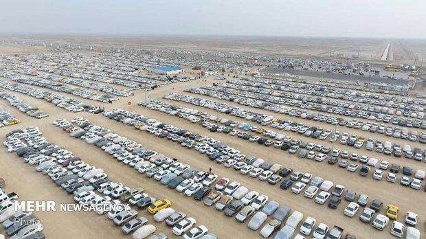 ۷۰ درصد ظرفیت پارکینگ بزرگ اربعین در مهران تکمیل شد