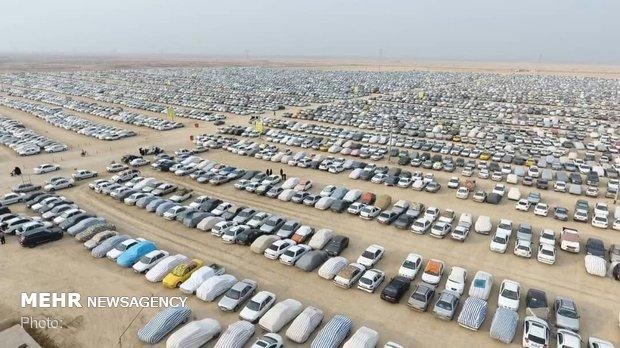 ساماندهی پارکینگ خودروها برای ایام اربعین در مهران