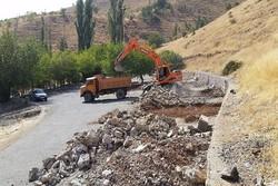 عملیات ترمیم و بازسازی معابر پارک جنگلی آبیدر آغاز شد