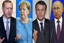 Erdoğan, Merkel, Macron ve Putin Suriye için bir araya geldi