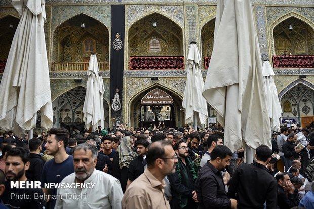 أجواء مدينة كربلاء في اعتاب الاربعين الحسيني