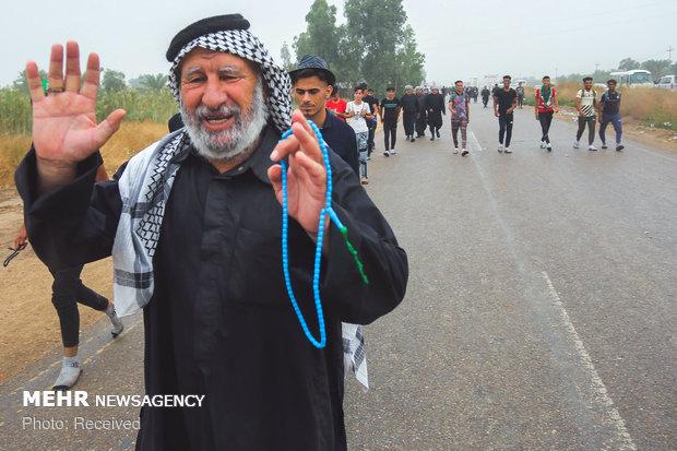"""مشاية اربعين الامام الحسين في """"طريق العلماء"""""""
