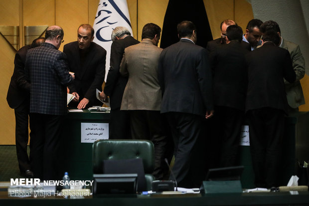 Vote of confidence session of the Parliament