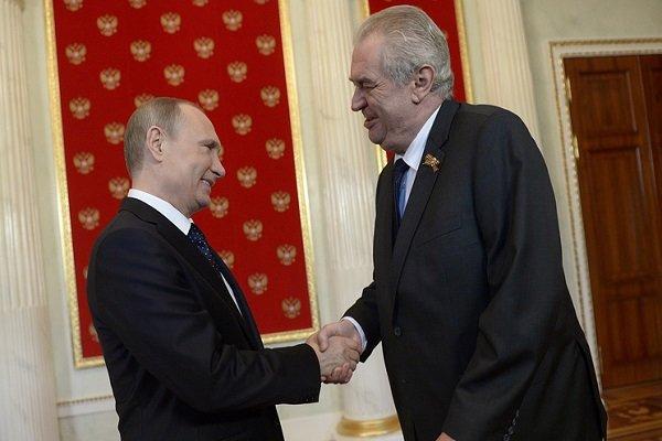 تبریک پوتین به رئیس جمهور چک به مناسبت صدمین سالگرد استقلال چک