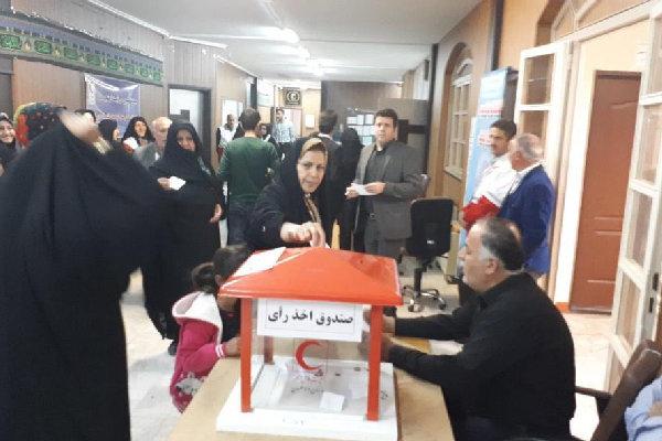 انتخابات هیئت رئیسه خانه داوطلبان هلال احمر قزوین برگزار شد