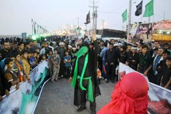 نذر فرهنگی در پیاده روی اربعین