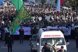 مراسم تشییع پیکر شهید امنیت اخلاقی در رشت و لاهیجان برگزار شد