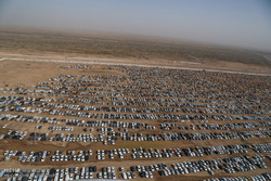 تصاویر هوایی از پایانه مرزی چذابه