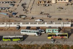 استقرار بیش از ۱۲۰ دستگاه اتوبوس برون استانی در چذابه