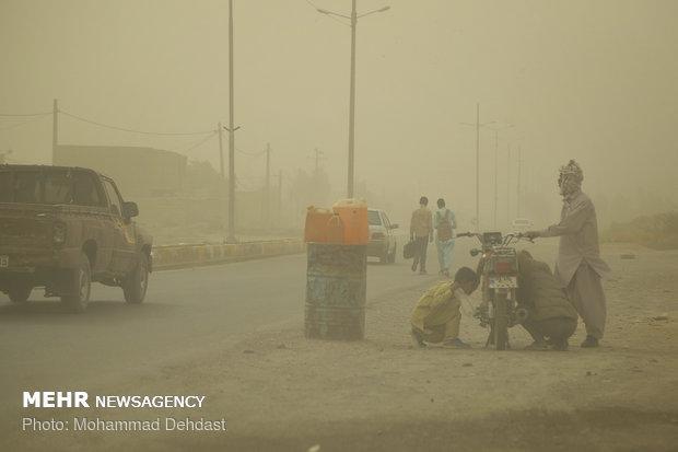 """العواصف الترابية في محافظة """"سيستان وبلوجستان"""""""