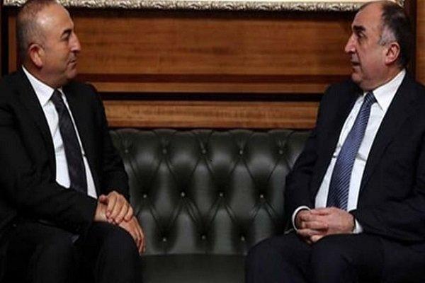Bakan Çavuşoğlu, Azeri mevkidaşı Memmedyarov ile bir araya geldi