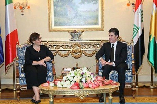 Neçirvan Barzani, İtalya Savunma Bakanı ile görüştü