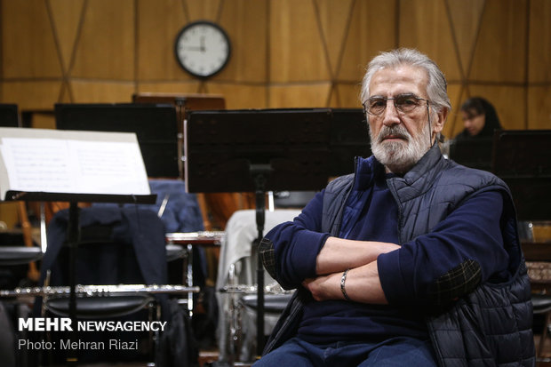 تمرین ارکستر ملی ایران در آستانه اجرای کنسرت وداع