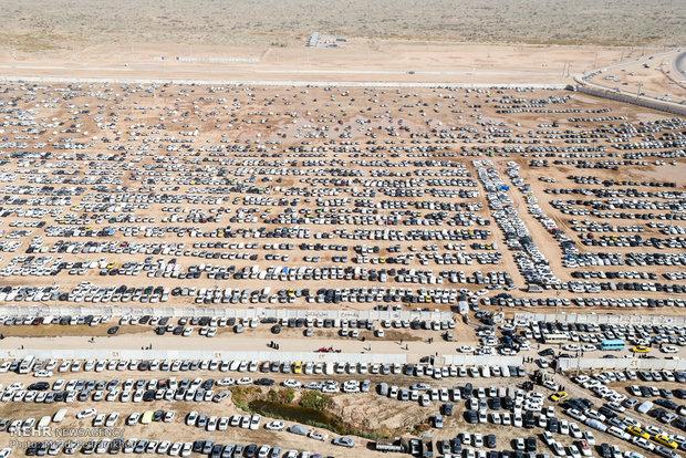 آماده بودن پارکینگ ٧٢ هزار خودرویی در چذابه/ ٢۸۰موکب فعالیت دارند