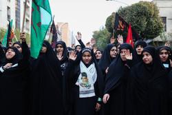 انطلاق المسيرات الطلابية في الأربعين الحسيني من جامعة طهران