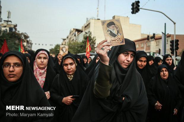 İranlı öğrencilerden Erbain töreni