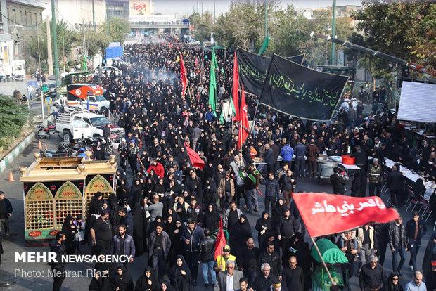 Tahran'da Erbain merasimi