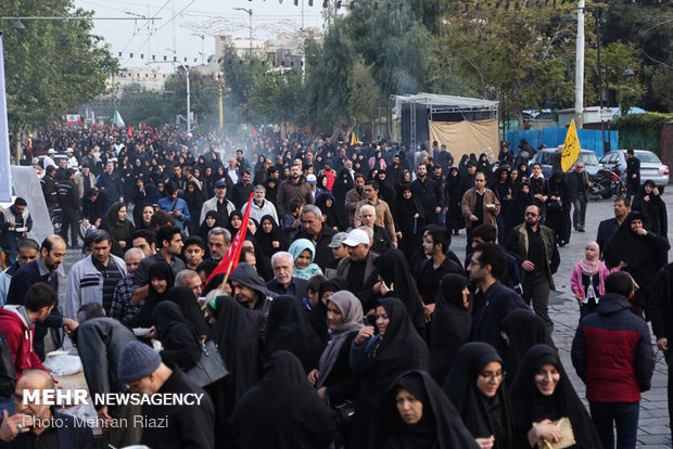 مسيرة الأربعين الحسيني في العاصمة طهران