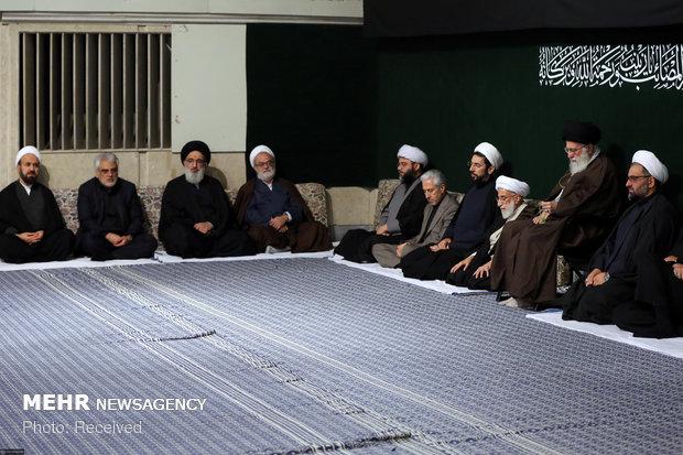 مراسم العزاء الحسيني بحضور قائد الثورة الاسلامية