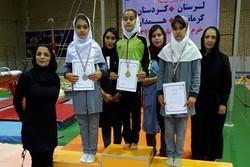 دختران ژیمناستیک کار کردستانی نایب قهرمان رقابت های غرب کشور شدند