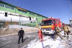 اسامی مصدومان آتش سوزی هواپیما در فرودگاه امام اعلام شد/۱۰ مصدوم