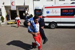 مانور ایمنی در برابر بمباران هوایی در شهر مرزی آستارا برگزار شد