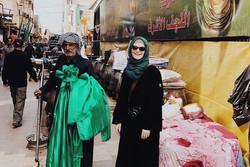 حضور عکاس انگلیسی در راهپیمایی اربعین