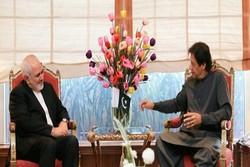 ظريف يلتقي مع رئيس الوزراء الباكستاني لبحث عدة قضايا أمنية