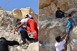 شش نوجوان گرفتار شده در کوههای پردیس جم نجات یافتند