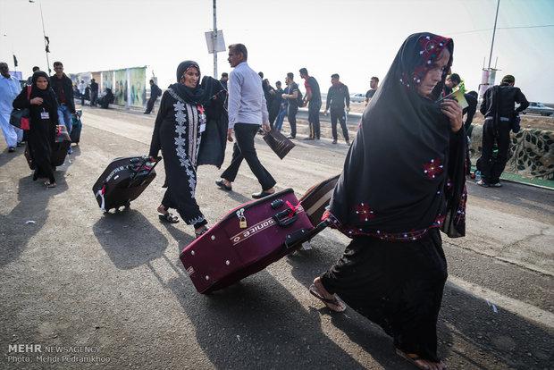 بازگشت زائران اربعین با قطار از مرز شلمچه