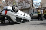 واژگونی خودرو سواری در بزرگراه وکیل آباد مشهد ۳ کشته برجای گذاشت