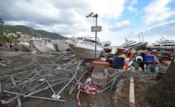خسارات طوفان در ایتالیا