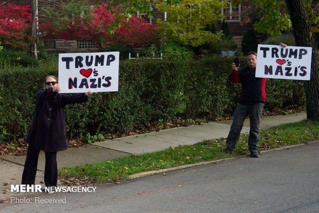 تظاهرات علیه ترامپ در پیتزبورگ