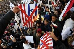 تجمع اعتراضآمیز تونسیها مقابل سفارت انگلیس علیه بیانیه بالفور