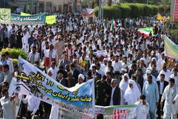 نمایش استکبارستیزی در سیستان و بلوچستان/  شیعه و سنی مطیع فرمان رهبر