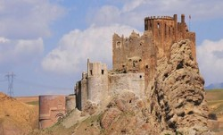 Ruined Alamut castle in Qazvin province