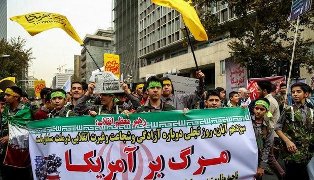راهپیمایی یوم الله ۱۳ آبان در استان البرز برگزار شد
