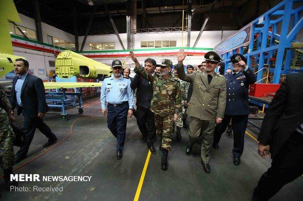 افتتاح خط تولید اولین جت جنگنده تمام ایرانی کوثر